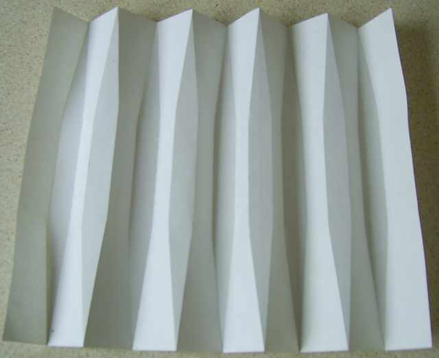 Pleated Structures Blunt Pleats